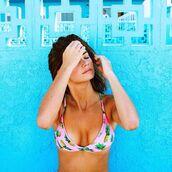 swimwear,pineapple swimsuit,pinapples,bralette,summer,hipster,bikini,pinneaple,pink