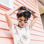 t-shirt,yeah bunny,foral,retro,flowers,pastel,white tee,cotton t-shirt