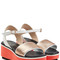 Penny leather wedge sandals