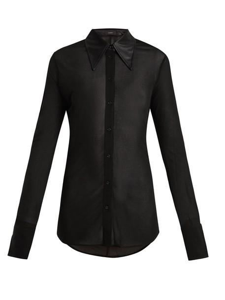 Joseph shirt jersey shirt satin black top