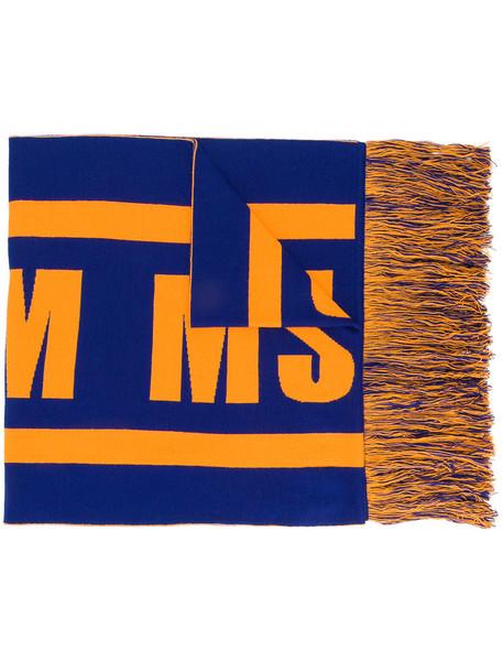 MSGM women scarf blue wool