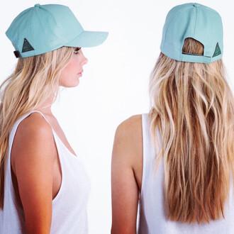faux mint leather hat mint mint leather cap mint hat