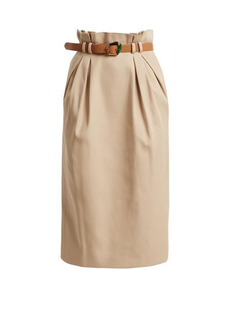 Gabriela Hearst skirt cotton tan