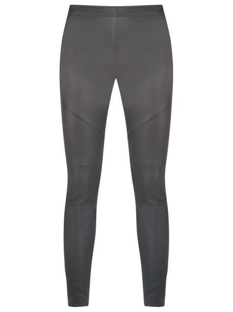 Roberto Cavalli leggings women classic leather black pants