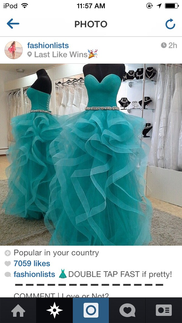 prom dress prom dress blue dress turquoise diamonds organza prom dress long strapless wedding dress evening dress evening dress corset dress