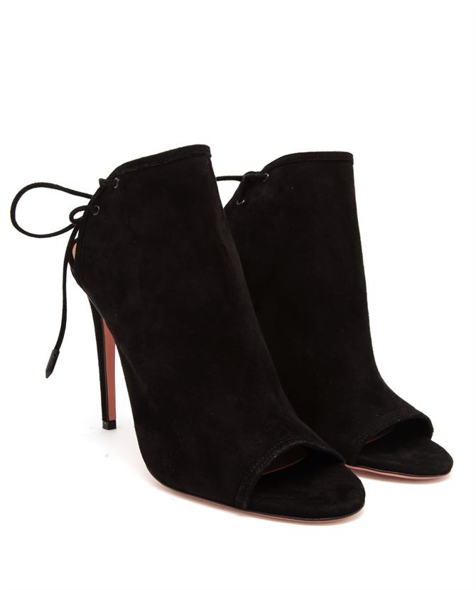 AQUAZZURA | Mayfair Suede Peep Toe Pumps | Browns fashion & designer clothes & clothing