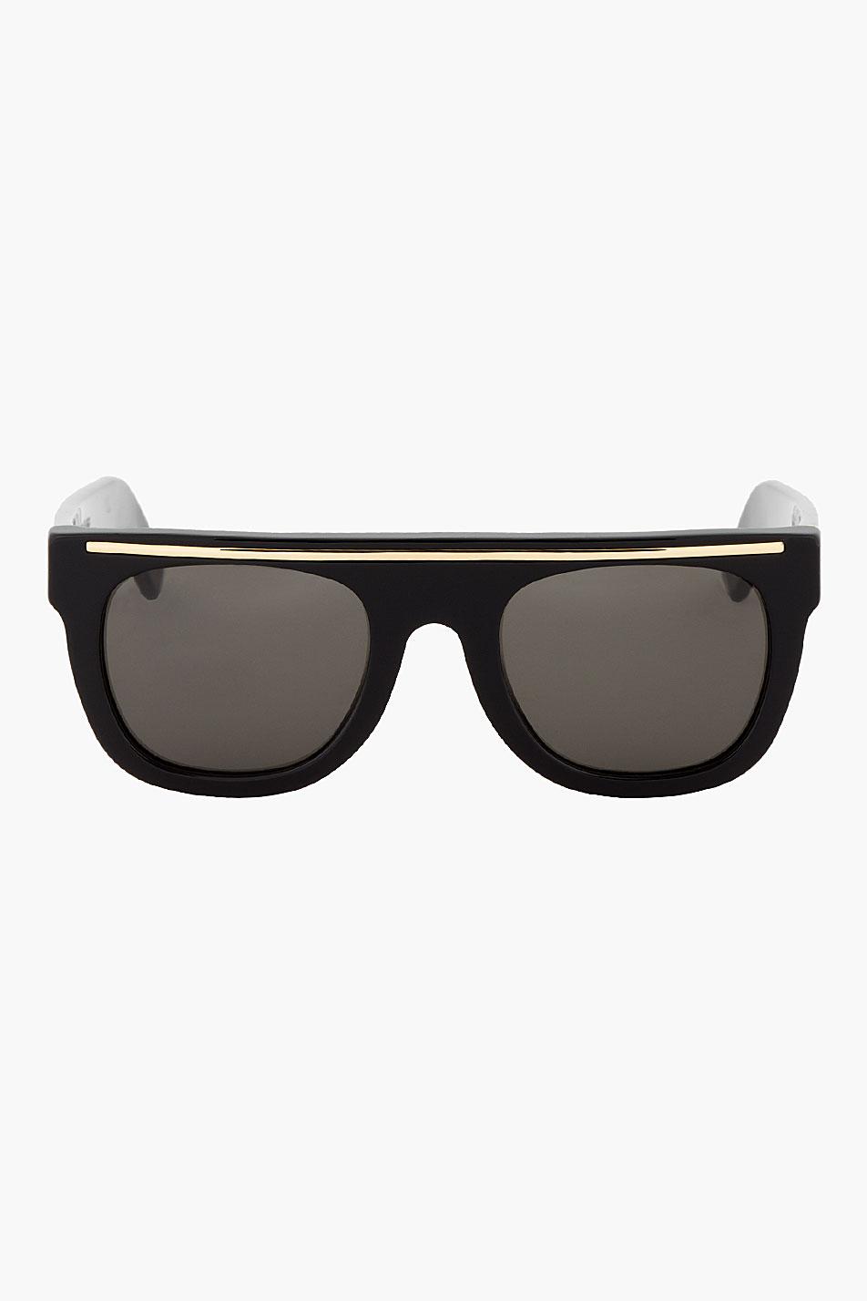 Super black flat top chicano sunglasses