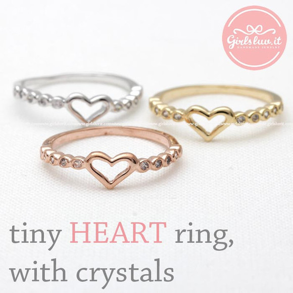jewels ring heart ring jewelry heart eternity ring simple tiny heart ring valentines day forever ring