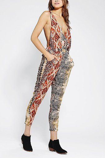 Staring At Stars Tie-Dye Surplice Jumpsuit