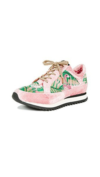 charlotte olympia flamingo sneakers pink shoes