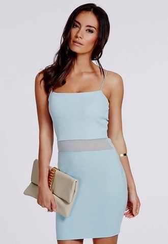dress bodycon dress blue blue dress baby blue dress baby blue