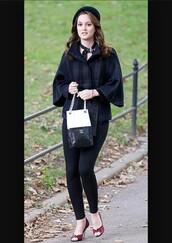 shoes,gossip girl,blair,bag,jacket,tights