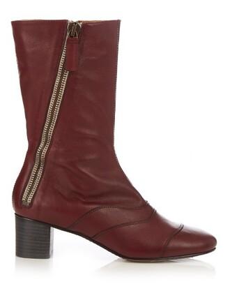 leather ankle boots boots ankle boots leather burgundy shoes