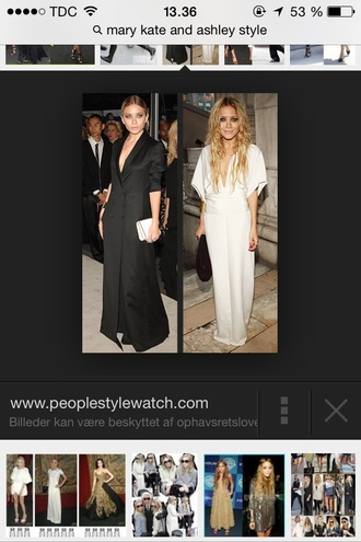 dress white dress maxi dress olsen sisters red carpet dress