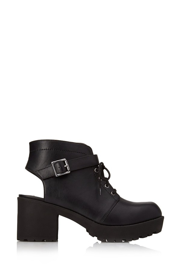 shoes cut out ankle boots boots black black boots black shoes forever 21 ankle boots high heels heel boots black