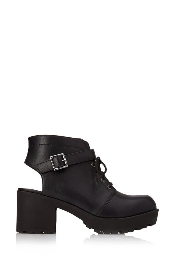 shoes cut out ankle boots boots black black boots black shoes forever 21 ankle boots high heels heel boots black
