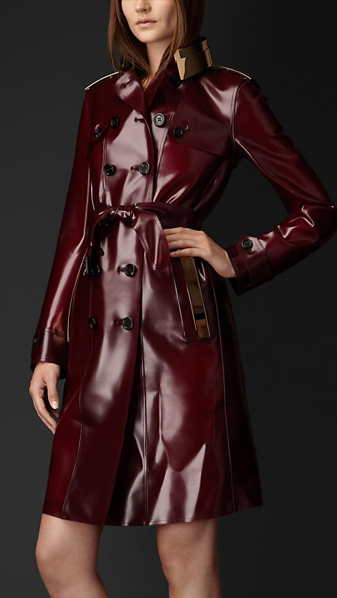 Metal Plate Vinyl Trench Coat | Burberry