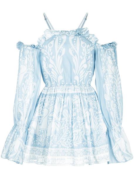 Alice McCall dress deer women cotton blue silk