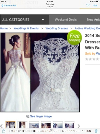 dress white wedding dress