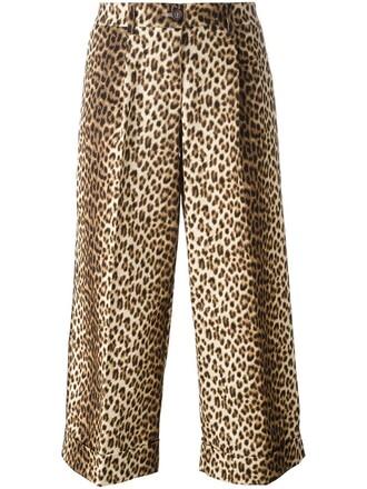 cropped women spandex nude cotton print leopard print pants
