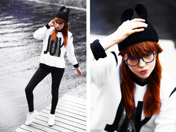 sweater sweatshirt white black black and white joy division swag winter sweater