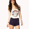 Cuffed sailor shorts | forever21 - 2041076480