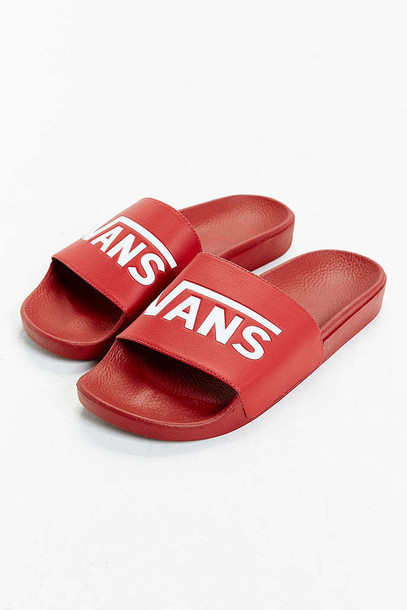 2253e669c7bb05 shoes slide shoes vans red