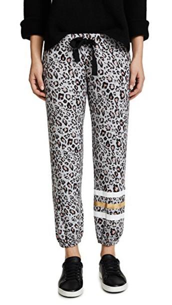 SUNDRY sweatpants stripes grey heather grey pants