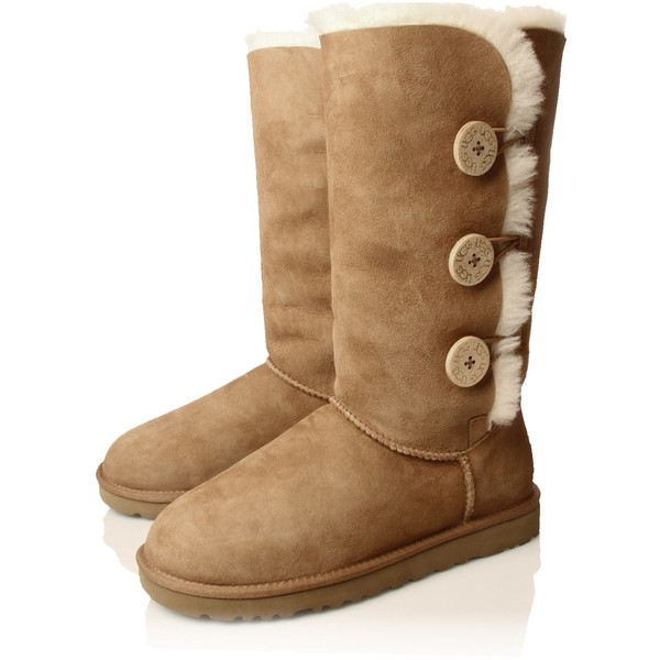 UGG Australia B Button Triple Brown - Polyvore