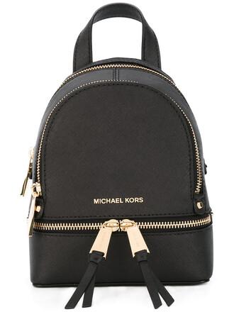 straps mini backpack mini backpack leather black bag