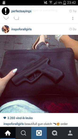 bag black leather black leather bag gun gun bag black bag