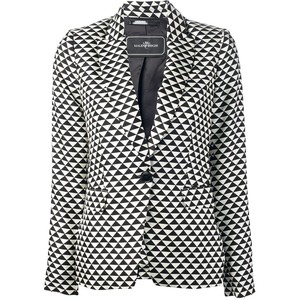 River Island Black and white jacquard blazer - Polyvore