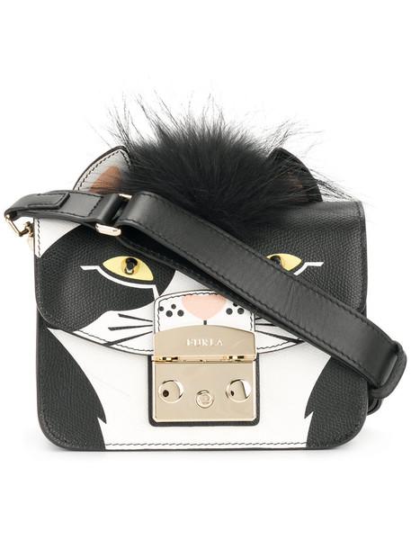 Furla women dog bag leather black