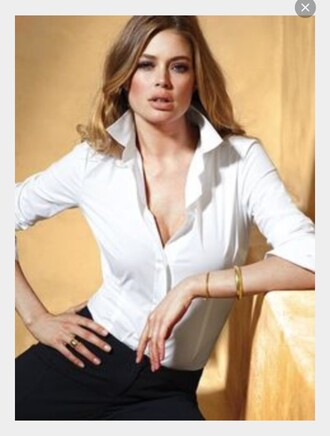 shirt white poplin tight slim fit basic cotton french cuff tailoring office outfits sleek polished long sleeves