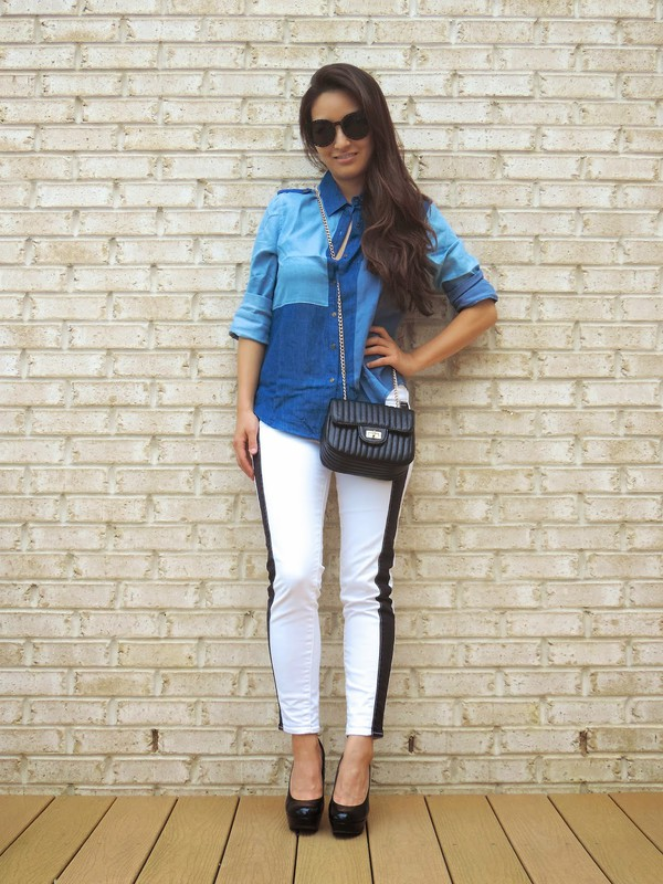 sensible stylista blogger bag top sunglasses shoes