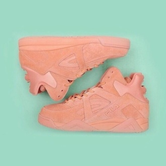 shoes fila sneakers nude