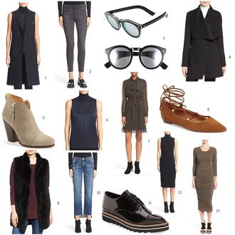 modern ensemble blogger coat sunglasses shoes dress jacket