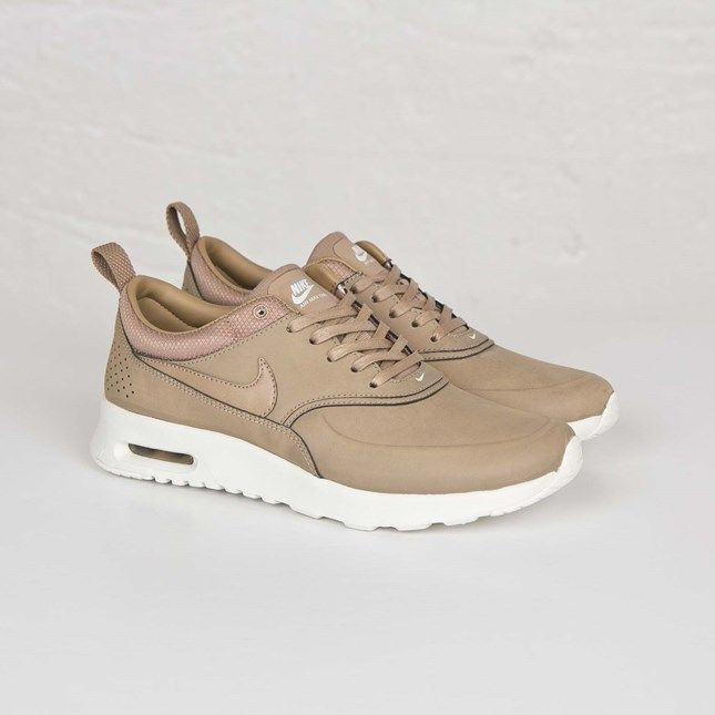 13e9fb4b12127 Tan Nike Thea Premium Leather custom. LIMITED STOCK.