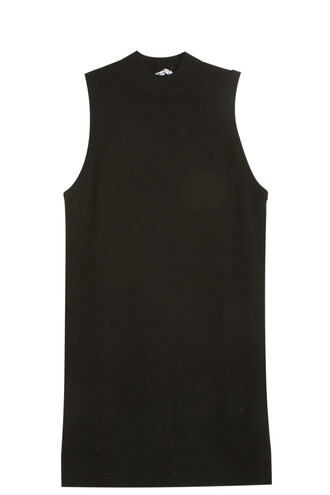 tunic back cut-out black top