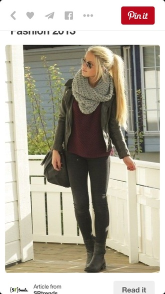 shoes ankle boots grey boots scarf