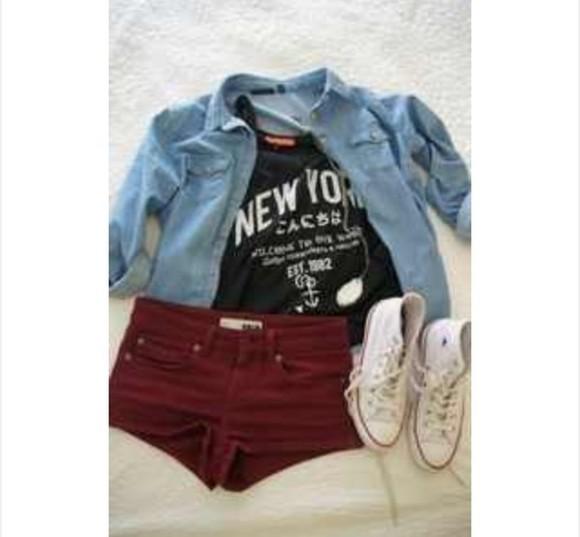 new york city tank top black tank shorts shirt black newyork love cool blouse