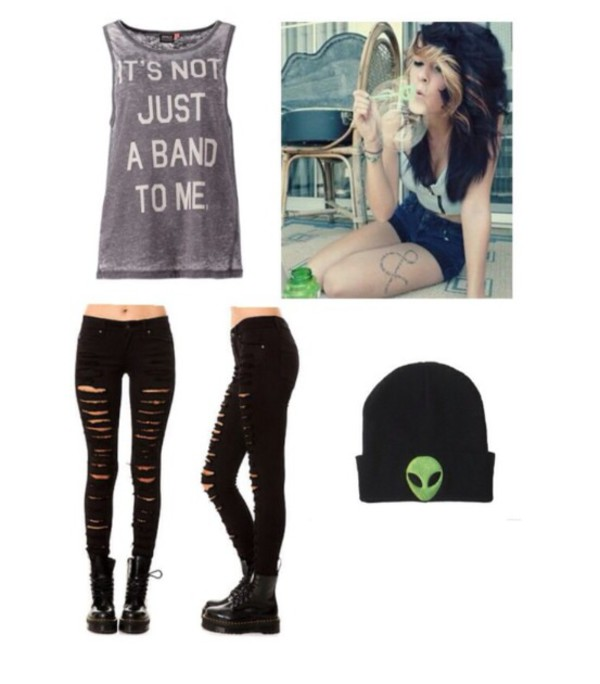 band t-shirt band tank top cute tumblr outfit tumblr shirt tumblr grey white muscle tee muscle tee jeans rock