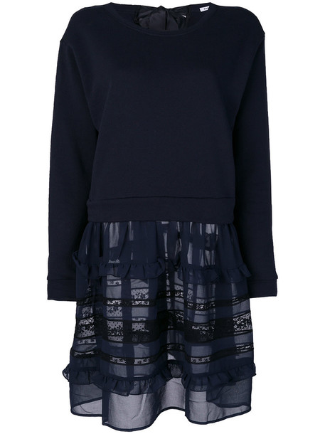 P.A.R.O.S.H. P.A.R.O.S.H. - layered sweatshirt - women - Cotton/Polyester - XS, Blue, Cotton/Polyester