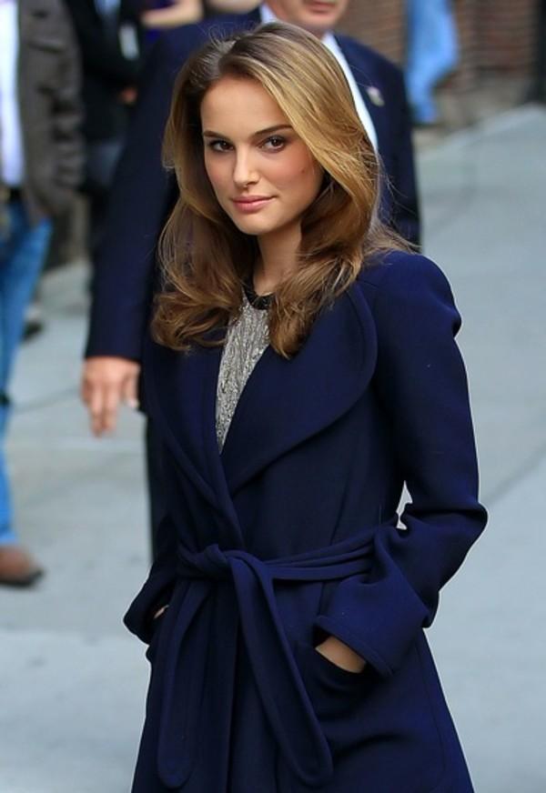 Jacket Natalie Portman Wrap Jacket Wheretoget