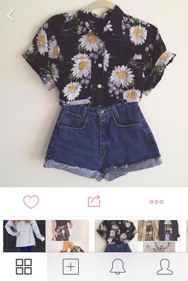 daisy blouse grunge