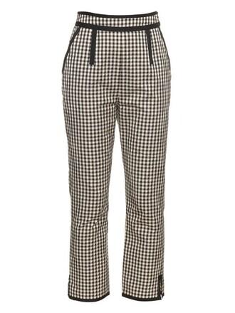 high cotton white black pants