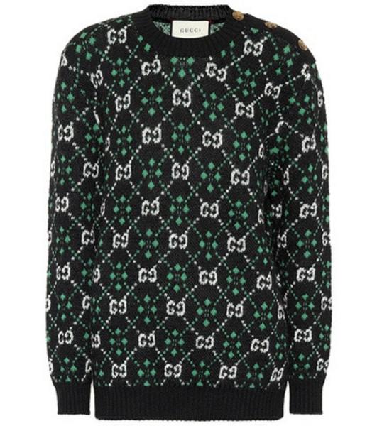 Gucci GG alpaca and wool sweater in black