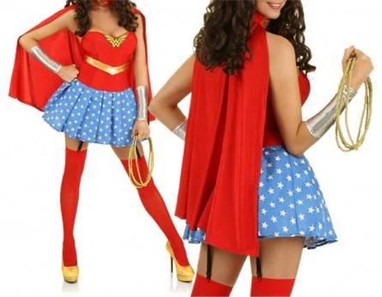 Sexy lingerie costume wonder woman fancy dress halloween adult dress up