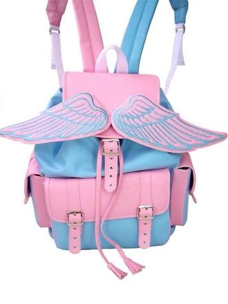 bag unicorn bright colorful pink blue green purple cute