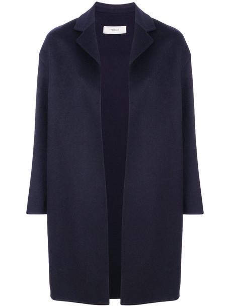 PRINGLE OF SCOTLAND coat women blue wool